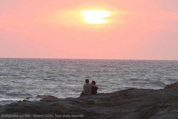 Coucher de soleil sur la Cote Rocheuse de Bretignolles