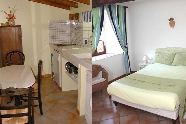 La chambre et la cuisine