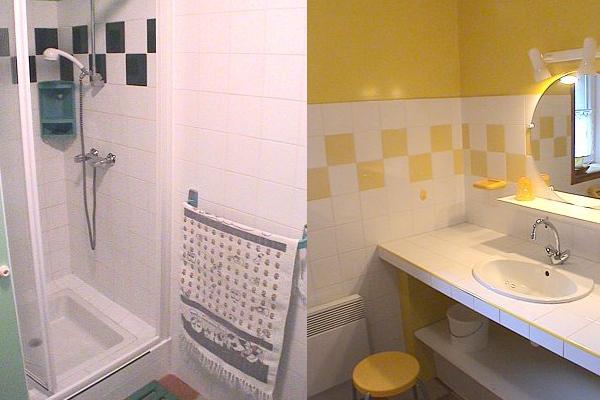 Les 2 salles d'eau du gîte